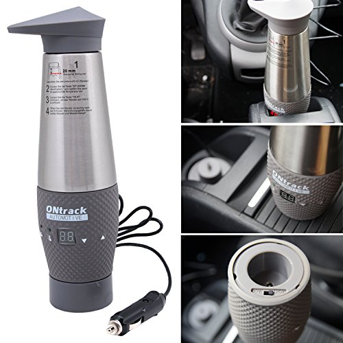 Kamber 12V-Wasserkocher Schnell LCD Vakuum Edelstahl Auto-Reise-Wasserkocher 12-Volt-Zigarettenanzünder