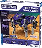 Thames & Kosmos Engineering Makerspace Terrain Walkers Science Experiment & Model Building Kit, Construct 8 Awesome Walking Machines & Learn About Intermittent Gears