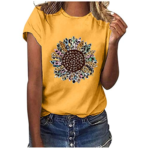 AODONG Summer Tops for Women, Womens Casual Summer Graphic Tank Tops O-Neck Loose Sleeveless Floral Printed Tee Shirts
