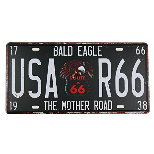 Magic show MS Route 66 Tin Poster Métal Home Bar Décor de plaque d'immatriculation en métal plaque noire Cj574-d