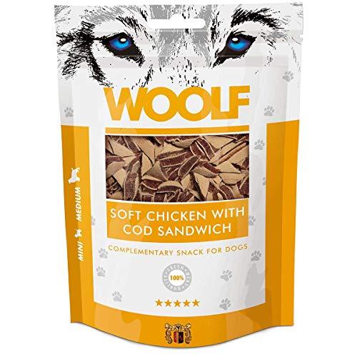 Woolf Soft Snack Sandwich Poulet et Morue 100gr