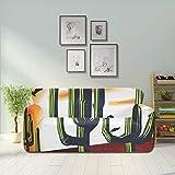 WYYWCY Ilustración del Desierto de Arizona Cactus para la Ropa 309 Funda de sofá Simple Funda de Asiento Sofá Muebles amueblados Protector 2 y 3 Sofás de Asiento
