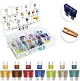 [UL LISTED] MulWark 140pc ClearMark Assorted Standard Auto Car Truck Blade Fuses Set-5A 7....