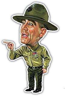 NG R Lee Ermey Decal Vinyl Sticker Funny Cartoon Caricature USMC Military FMJ