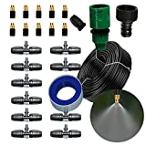 Leak Proof Copper Misting System- Misters for Patio, Gazebos, Backyard Cooling, Pool and Play Areas(33ft-3/8'' tubing)