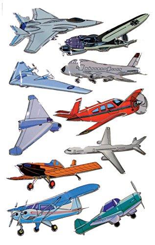 AVERY Zweckform 53751 Kinder Sticker Flugzeuge (3D Effekt) 10 Aufkleber