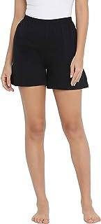 Clovia Women's Boxer Shorts in Black - Cotton Rich