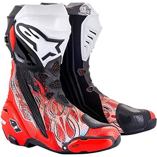 Alpinestars Supertech R Boots Vented Haga 20 2020 Racing Stiefel Motorradstiefel, 43 EU