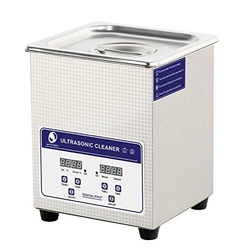 Messer Industrial profesional industria climatizada limpiador ultrasónico 2.0Litro W/temporizador Degas baño...