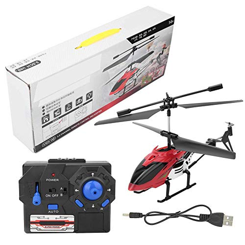 RC Airplane LED Electric Remote Control Alloy Aircraft Kids Helicopter Toy for Boys Girls Indoor Outdoor Games(Rojo)