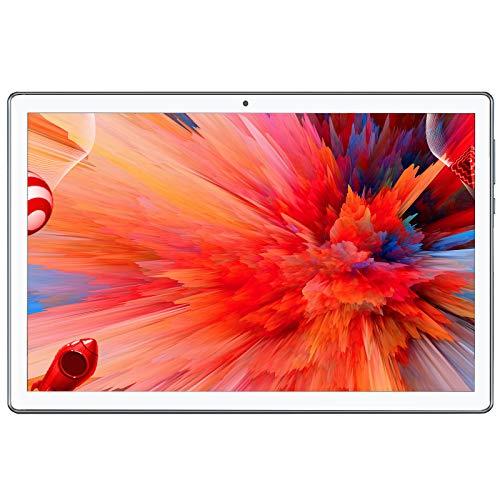 Tablet 10 Pulgadas,Android 10, 4G LTE, Octa-Core,64GB Rom, 4GB Ram, WiFi, Dual SIM Card,(Plata)