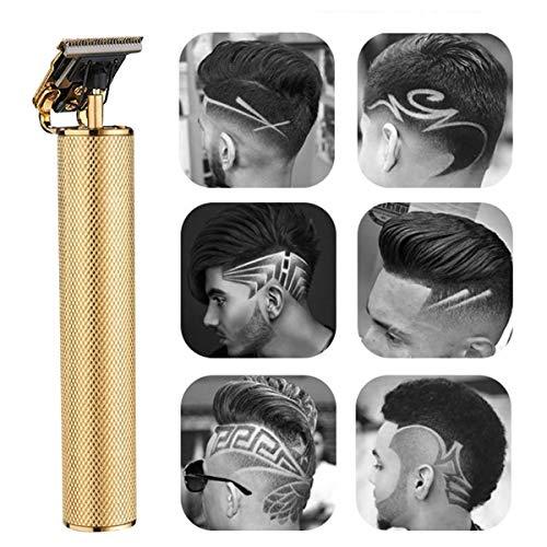 HelloCreate Elektrischer Haarschneidemaschine, elektrischer Haarschneidemaschine, wiederaufladbar, geschlossenes Schneiden, Trimmer-Set für Herren, Haardetail