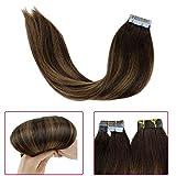 LaaVoo 16 Pouce Bresilien Hair Extensions Tape in Bande Adhesives de Rechange...