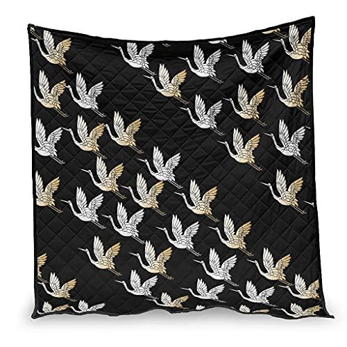 OwlOwlfan Grúas japonesas anti alergia fácil cuidado hipoalergénico verano edredón viaje manta para primavera verano otoño temporada blanco 230x260cm