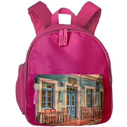 XCNGG Mochila para niños Mochila para niños Bolsos para niños Mini Kids Pre School Bookbag Coffee House Printed Backpacks For Baby Girls