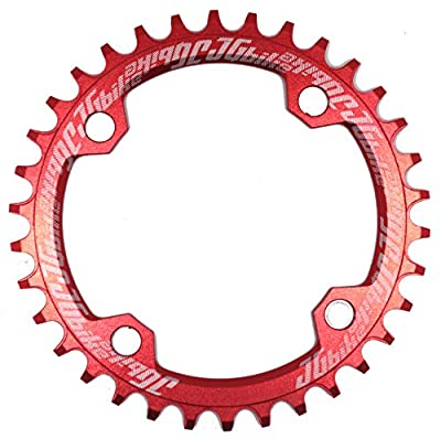 JGbike Elite Round Oval 104mm BCD 32T 34T 36T 38T Narrow Wide Single Chainring for 8 9 10 11 12 Speed MTB XC Trail e-Bike Fat Bike Mountain Bike Bicycle