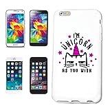 Reifen-Markt Funda para Samsung Galaxy S4 Mini I'M ùnicorn AS You Wish Unicorn Fabelwesen Rainbow Emoji Carcasa para teléfono móvil