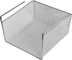 silver mesh under the shelf organizing basket