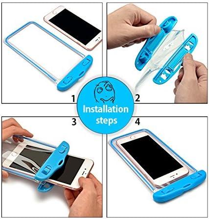 DIP IT Universal Waterproof Phone Pouch - Dry Bag Multifunction, Glow in The Dark Phone Case, Underwater Credit Card Holder & Cash Holder (White)