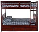Discovery World Furniture 82815-K3-KD Bunk, Full Over Full, Merlot