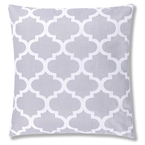 Amilian® Dekokissen Kissenbezug Kissen 40cm x 40cm Indien Grau