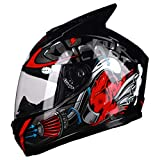 Casco moto integrale per uomo Casco moto integrale Viso apribile Casco moto Joker Strip pe...