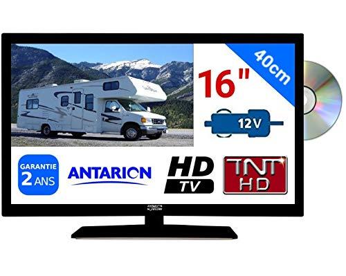 Combiné DVD TV Camping Car Camion 16' 39,6cm LED HD TNTHD 220V 24V 12V