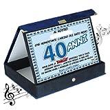 Targa premio compleanno sonora 40 anni amico| Articolo, idee regalo
