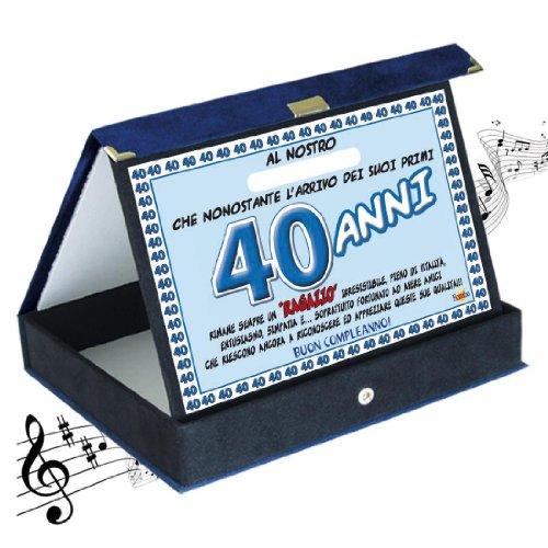 Bombo Placa de premio cumpleaños Sonora 40 años Amico   Artículo, ideas de regalo