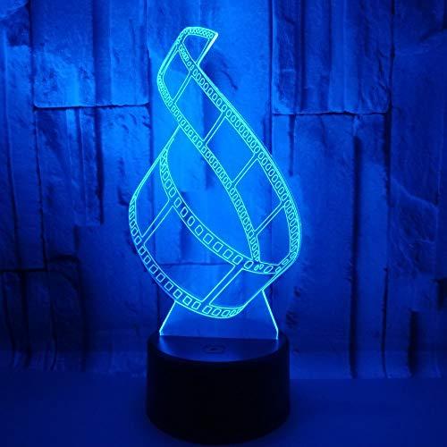 Led-nachtlampje met 7 kleuren wisselende kleuren film baby kinderen kinderkamer hal kinderkamer geschenk vakantie