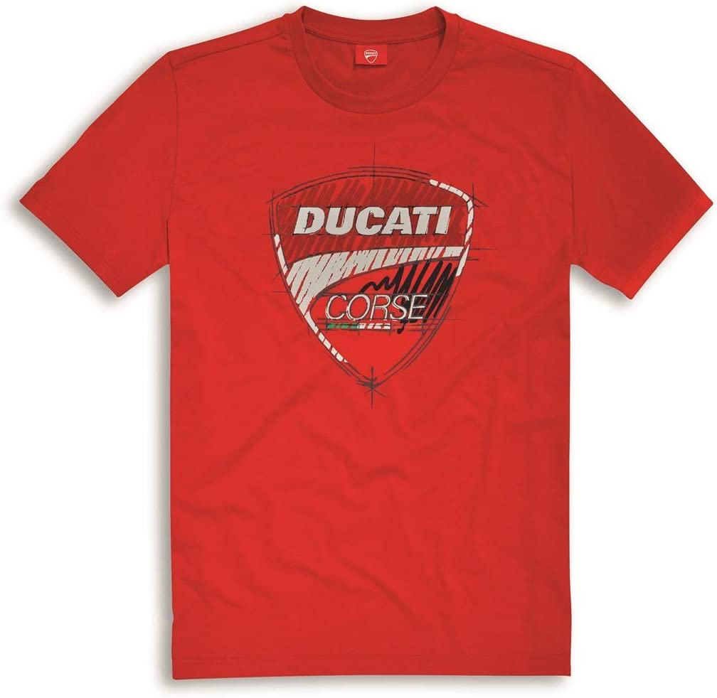 Ducati Corse Sketch T-shirt RED Seasonal Wrap Introduction XL 9876950 Max 60% OFF