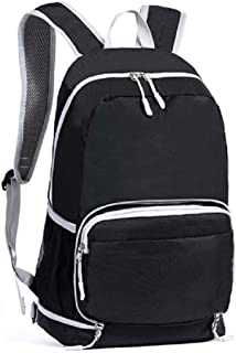 Outdoor Packable Backpack Ultra Lighweight Water Resistant Travel Pack Hiking Daypack, Durable Handy Foldable Camping Backpack Climbing Cross body Shoulder Bag Biking Backpack for Men Women Black