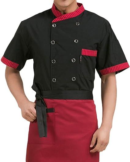 Nanxson Chaqueta de Cocinero Unisex para Hombre Chaqueta de ...