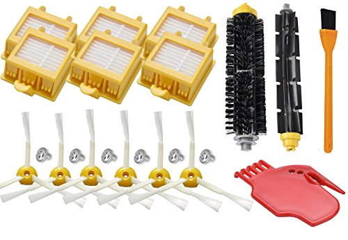 OxoxO Replace Hepa Roomba 700Filtro Bristle and Flexible Beater Brush with 3Armed Front Brush Cleaning Tool Kit for iRobot Roomba 700Series 760770780790Vacuum Cleaner Accessory