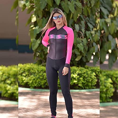 Completi da ciclismo da triathlon da donna Tuta Pantaloni attillati a maniche lunghe Tuta da bici da corsa Tuta da nuoto Tuta da MTB (Color : 4, Size : XX-Large)