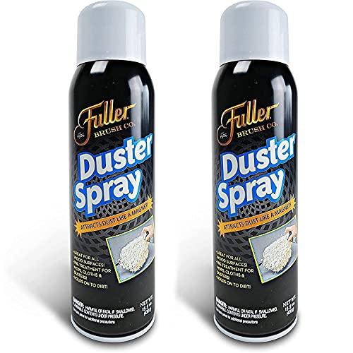 Fuller Brush Duster Spray – 2 Pack 15.5 oz - High Quality Multi Surface Dust Removing Sprayer - Safe Household Cleaning for Floors, Furniture, Blinds & Car Interiors