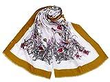 1pc 3 de Mostaza Bufanda/Chal de Flores 85x180cm, Chales & Bufandas, Chales, Redecillas, Accesorios de Moda