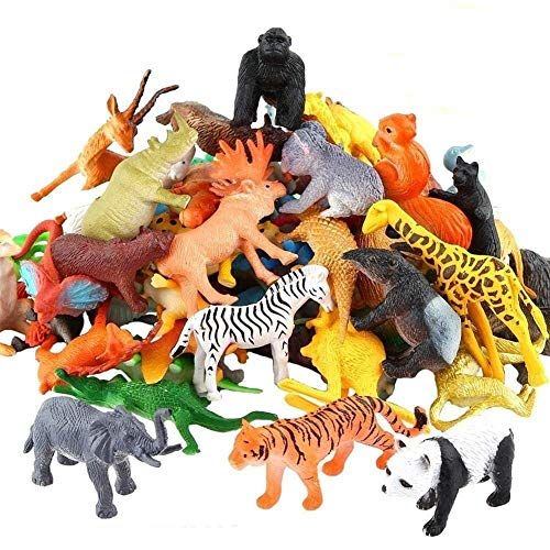 FRATELLI Animal Play Sets-Realistic Vinyl Plastic Animals-Non-Toxic (Set of 12 Zoo Wild Animals Figures Toys for Kids , Animal Toy Set Play for Kids)