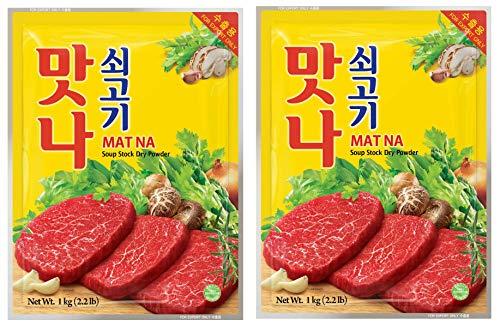 牛肉 だしの素 【 牛肉マンナ 1�s × 2個 セット 】韓国 だし スープ 韓国食品 韓国料理 ????? 時短 簡単調理 業務用 牛だしスープ 合わせ調味料 大容量