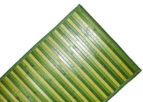DEMONA TAPPETI Bamboo Bambu Varie Misure E Colori Legno PEDANA PASSATOIA Moderno Bagno Cucina CORRIDOIO Ingresso Design Impermeabile Antiscivolo TAPPETINI SPEDIZIONE Gratuita Offerta (NMB7, 50X240CM)