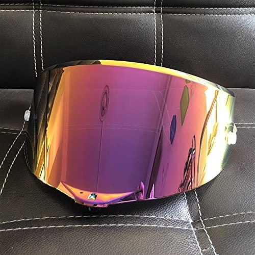 Motorcycle Full Face Casco Goggles Lens Visor para Agv Pista GP RR Corsa R GPR R Race 2 Carrera 3 70 Aniversario (Color : Rose Red)