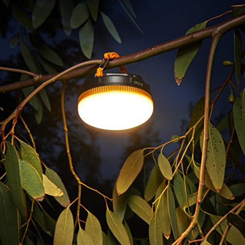 Auraglow Super Bright Battery Operated Outdoor Garden Hanging Gazebo Light LED Camping Lantern - 4 Pack