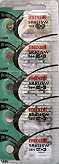 Maxell Watch Battery Button cell SR621SW SR-621SW 364 (Pack of 5)