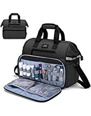 CURMIO Medical Bag, Nurse Supplies Bag with Padded Laptop Sleeve for Home Visits, Health Care, Hospice, Gift for Doctors, Nursing Students, Physical Therapists, Bag ONLY, Black