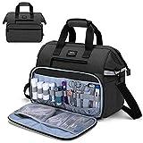 CURMIO Borsa medica, borsa per infermiere per visite a casa, assistenza sanitaria, regalo perfetto per medici, fisioterapisti, SOLO BORSA(Design brevettato), nero
