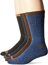 Dickies Men's 4 Pairs Split Rib Moisture Control Crew Socks, Navy, Shoe Size: 6-12