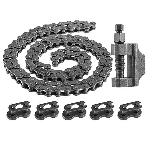 SaferCCTV Bicycle Chain, 415 Heavy Duty Chain, 415 Chain Master Link, Chain Breaker Cut Link Remove Tool for 49cc to 80cc 2-Stroke Engine Motorized Bicycles