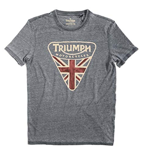 Lucky Brand Men's Burnout Triumph British Flag Badge Tee (Large)