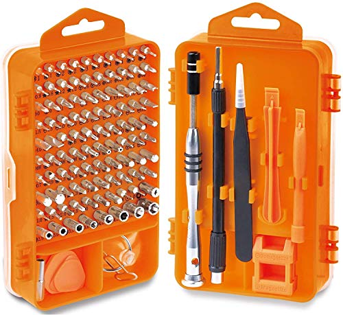 110 in 1 Professional Electronics Repair Tool Kit Precision Screwdriver Set for PC Computer, Laptop, Tablet, MacBook and More