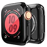 [2-Pack] BELONGME for Apple Watch Screen Protector Series 5 4 3 44mm 40mm 42mm 38mm, Built in TPU All-Around Protective Case Cover for iWatch Series 5/4/3